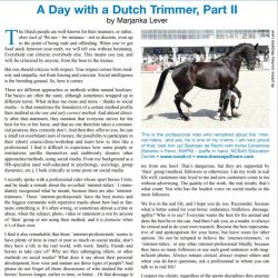 A Day with a Dutch Trimmer II; Internet
